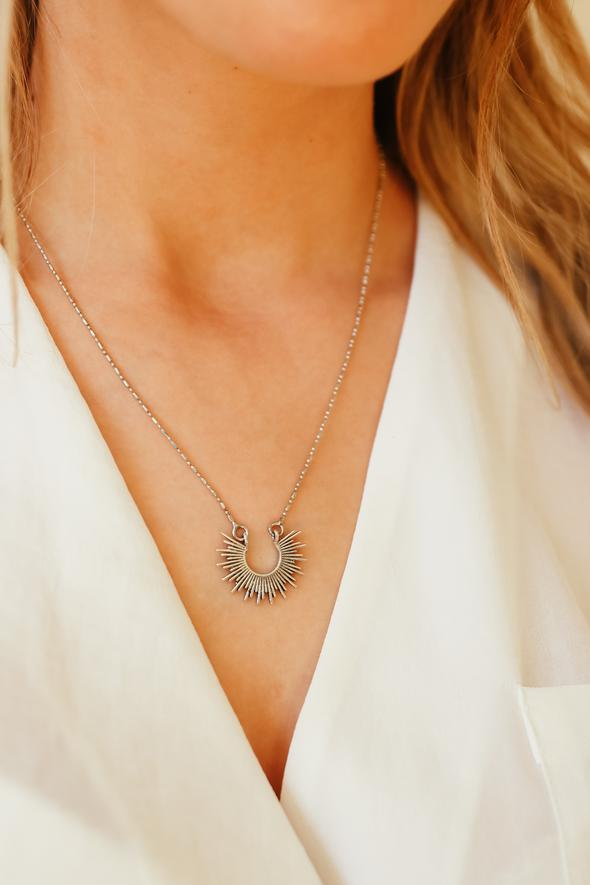 SILVER RAY OF SUNSHINE NECKLACE