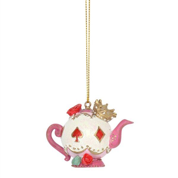 Gisela Graham Resin Teapot Christmas Tree Decoration